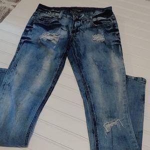 Lovesick distressed light wash skinny jeans